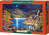 Moonlit Cabin puzzel 1000 stukjes
