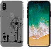 MP Case TPU case Love print voor Apple iPhone X -Achterkant / backcover