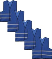 Veiligheidshesje - Veiligheidsvest - Volwassene - Blauw - 5 stuks