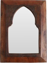 Raw Materials Factory spiegel - Moroccan style - 24x33cm - Gerecycled hout