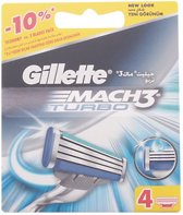 Indasec Gillette Mach3 Turbo Refill 4 Units