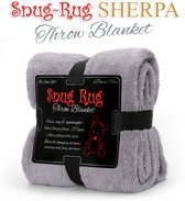 Snug-Rug Throw Deken - Lila Grijs