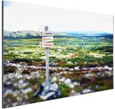 Wandelsteken in de natuur Aluminium 60x40 cm - Foto print op Aluminium (metaal wanddecoratie)