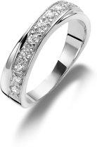Twice As Nice ring in zilver, gezet met zirkonia Wit 60