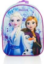 Disney Frozen rugtasje 3D voor kinderen - Rugtas/schooltas - Disney Frozen Elsa en Anna rugzak