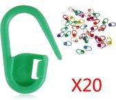 20 Steekmarkeerders in diverse kleuren - NBH®