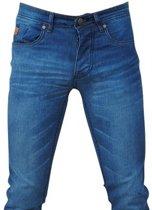 Hakkers Paris - Heren Jeans - White Wash - Slim Fit - Stretch - Lengte 34 - Licht Blauw