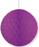 Decoratie bol paars 10 cm - papieren kerstbal