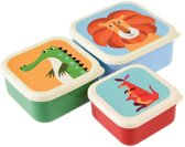set van 3 doosjes voor koek / fruit . colourful creatures