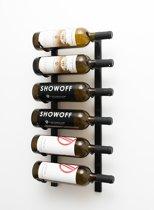 """Wijnrek """"Six"""" Black - voor 6 flessen"""