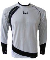KWD Shirt Nuevo lange mouw - Wit/zwart - Maat L