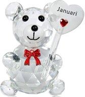 Kristalglas beer geboorte maand januari