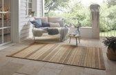 Binnen & buiten vloerkleed ruiten Granado - beige/bruin 120x170 cm