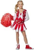 Cheerleader luxe rood/wit voor meisje