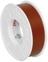 Coroplast isolatietape, PVC, bruin 4.5mx15mm, isol, zelfdov