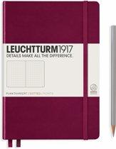 Leuchtturm 1917 A5 Medium Notitieboek Dotted Port Red