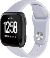 123Watches.nl Siliconen bandje - Fitbit Versa (Lite) - Grijs - M/L