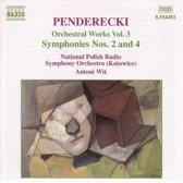 Penderecki: Orchestral Works Vol 3 - Symphonies nos 2 & 4 / Wit, Polish NRSO