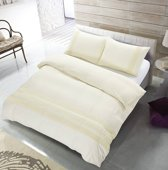 The Supreme Home Collection Avenza Creme Maat: 1-persoons (140 x 220 cm + 1 kussensloop)