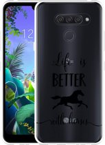 LG Q60 Hoesje Life is Better with Horses