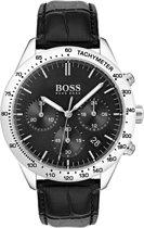Hugo Boss HB1513579 Horloge - Leer - Zwart - Ø 42 mm