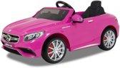 Mercedes S63 AMG - Elektrische kinderauto (12V) / accuvoertuig met Mp3 + Afstandsbediening | Lederen zitting | Rubberen banden