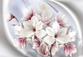 Fotobehang Magnolia Flowers | XXL - 312cm x 219cm | 130g/m2 Vlies