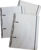 houten A6 mapjes van Era Wood, set van 3, blanko
