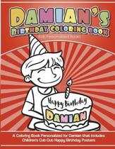 Damian's Birthday Coloring Book Kids Personalized Books