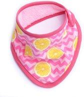 Bandana slabbetje - lemon squash - roze