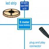 Led Strips 5050-60 LED/m Warm Wit