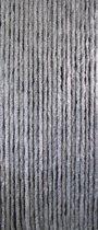 Kattenstaart vliegengordijn - Grijs/wit gemeleerd - 90 x 220 cm