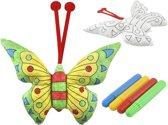 3d DIY Knuffel Kleuren Vlinder Vleugels - Vlindervleugels - Butterfly Met Kleurstiften