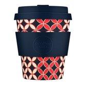 Ecoffee Cup Bamboe Beker - 240 ml Master Spiros met Donkerblauw Siliconen