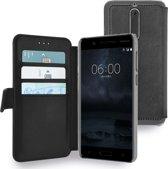 Azuri walletcase met magnetische sluiting - zwart - voor Nokia 5