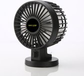 Ninzer Stille Mini Fan Tafelventilator | Zwart