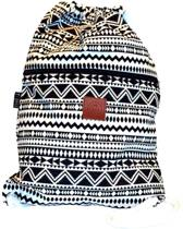 Rugtas Abstract | T-Bags | 100% Katoen | 14 Liter | Zwart & Wit | Comfortabel