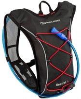 Highlander Backpack - Unisex - zwart/rood