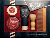 baard verzorging set | baardset | haarset | voor mannen| Barbershop scheerset | The groom collection | Aftershave balm | Hair wax | shaving soap | shaving brush | beard comb | baard kam |
