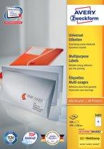 2x Avery witte etiketten QuickPeel 105x148mm (bxh), 400 stuks, 4 per blad, doos a 100 blad