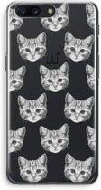 OnePlus 5 Transparant Hoesje (Soft) - Kitten