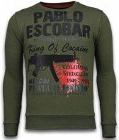 Local Fanatic Pablo Escobar - Rhinestone Sweater - Groen - Maten: M