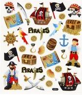 Piraten stickervel met gekleurde piraat stickers
