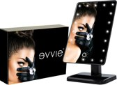 Evvie make-up spiegel Deluxe met LED verlichting – Zwart - in chique geschenkdoos