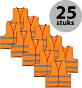 Veiligheidshesje - Veiligheidsvest - Volwassene - Oranje - 25 stuks