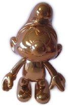Beweegbare bronskleurige smurf 20 cm