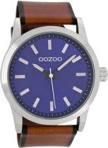 OOZOO Timepieces horloge Bruin/Blauw C7037