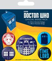 DOCTOR WHO  5 Pack Badges -  Exterminate