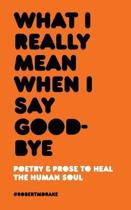 What I Really Mean When I Say Good-Bye