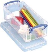 12x Really Useful Box pennenbakje 0,9 liter, transparant